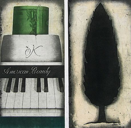 RON FUNDINGSLAND, AMERICAN BEAUTY color intaglio