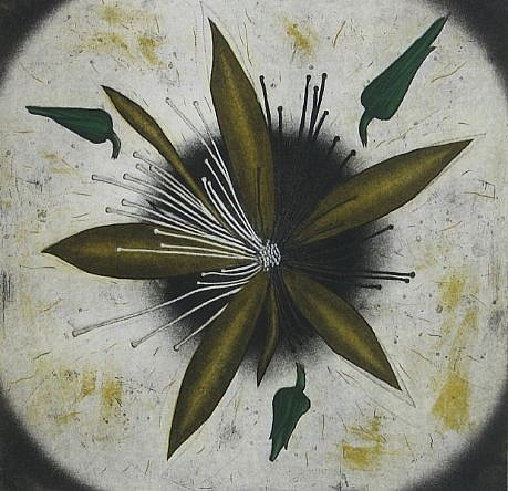 RON FUNDINGSLAND, BLAZING STAR aquatint and etching