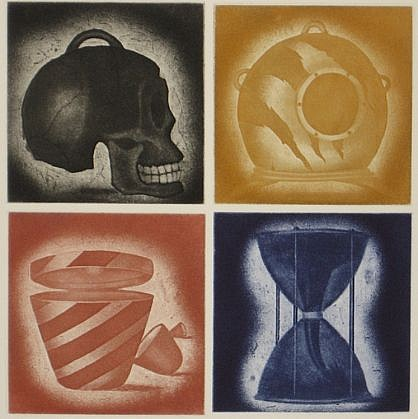 RON FUNDINGSLAND, FIRST THINGS aquatint and etching