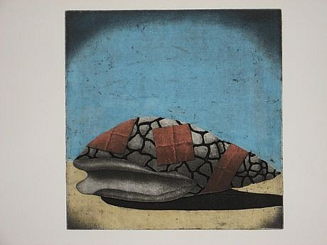 RON FUNDINGSLAND, SANCTUARY aquatint / etching / watercolor