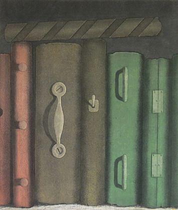 RON FUNDINGSLAND, TRICK BOOKS color intaglio