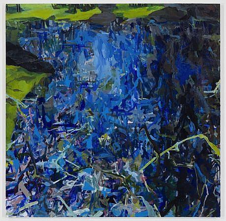 ALLISON GILDERSLEEVE, BLUE oil on canvas