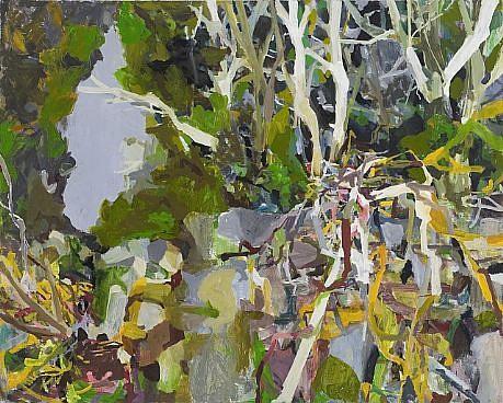ALLISON GILDERSLEEVE, ON THE NEIGHBORS SIDE oil on canvas