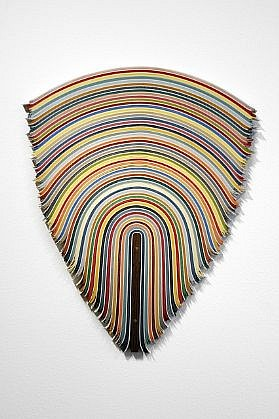 DERRICK VELASQUEZ, UNTITLED 86 vinyl and wenge