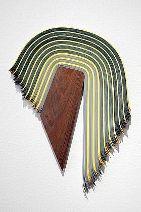DERRICK VELASQUEZ, UNTITLED 87 vinyl and walnut