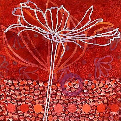 ANA MARIA HERNANDO, CERCEN FLORES BLANCAS EN LA MIEL oil and alkyd on canvas