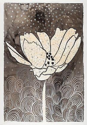 ANA MARIA HERNANDO, AMAPOLA (POPPY) Inks and acrylics on paper