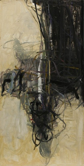 TOM LIEBER, BLACK AND WHITE CENTER oil on canvas