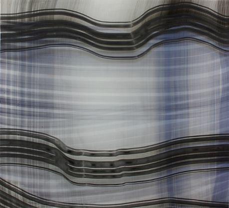 KATE PETLEY, RIPPLE resin and mixed media on aluminum