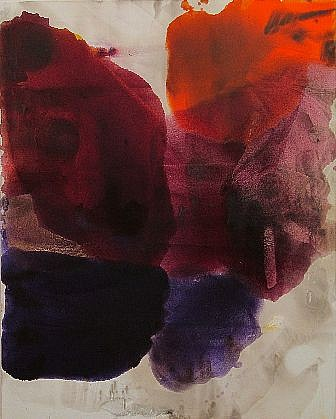 DIRK DE BRUYCKER, RETREAT asphalt, cobalt drier, gesso and oil on canvas