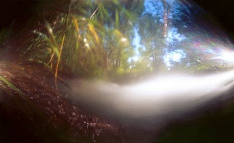 DAVID SHARPE, WATERTHREAD 55 color pinhole photograph