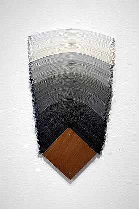 DERRICK VELASQUEZ, UNTITLED 72 vinyl and mahogany
