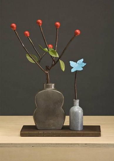 DAVID KIMBALL ANDERSON, SUMMER BRIAR painted steel, bronze