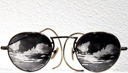 GARY EMRICH, UNTITLED (cloud glasses) photo emulsion transfer / eyeglasses