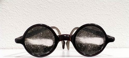 GARY EMRICH, UNTITLED (Comet Glasses) photo emulsion transfer / eyeglasses