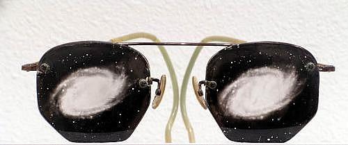 GARY EMRICH, UNTITLED (Nebula Glasses) photo emulsion transfer / eyeglasses