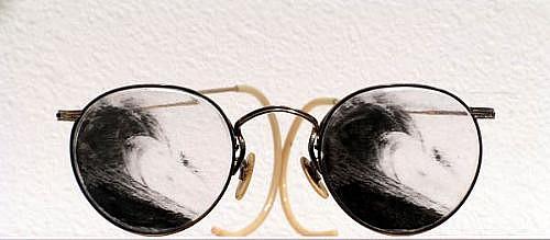 GARY EMRICH, UNTITLED (Wave Glasses) photo emulsion transfer / eyeglasses