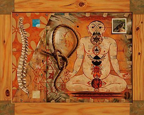 JERRY KUNKEL, Chakras oil on canvas