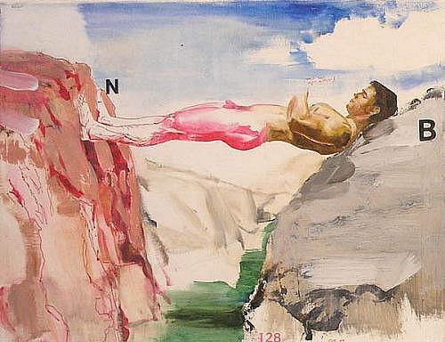 JACK BALAS, STUDY FOR NATURAL BRIDGE oil on canvas