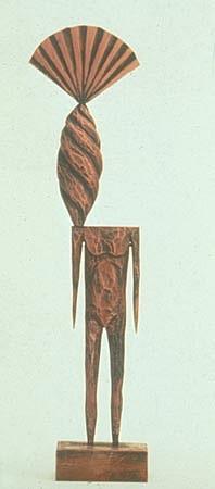 JOHN BUCK, STUDY 1H acrylic/ wood sculpture