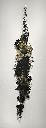 KATY STONE, BLACK CITRUS acrylic on Duralar