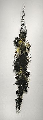 KATY STONE, BLACK CITRUS acrylic on Duralar