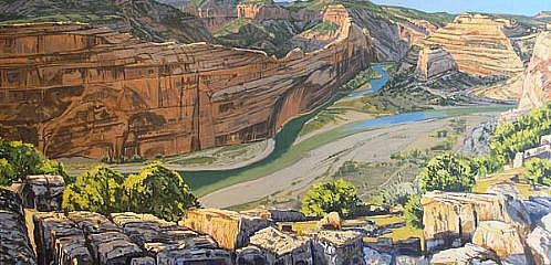 JIM COLBERT ESTATE, CONFLUENCE: YAMPA AND GREEN RIVERS oil on canvas