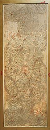 JUDY PFAFF, ORIGAMI 3/20 etching, collograph, encaustic