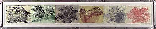 JUDY PFAFF, TLON, UQBAR, ORBIS, TERTIUS 22/45 etching, relief roll
