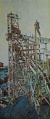 STEPHEN BATURA, chute acrylic on panel