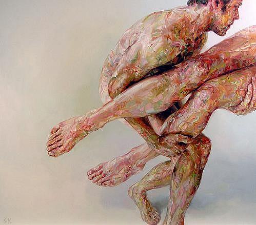 STEFAN KLEINSCHUSTER, RUBRIC IV oil on canvas