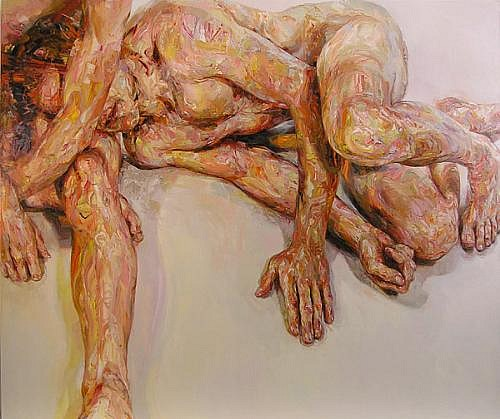 STEFAN KLEINSCHUSTER, RUBRIC III oil on canvas
