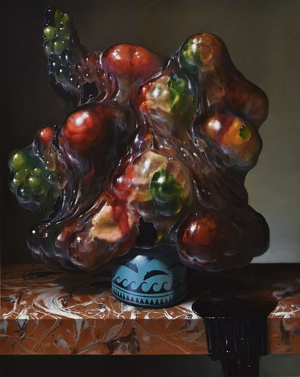 CHRISTIAN REX VAN MINNEN, JELLYFISH BOUQUET oil on panel