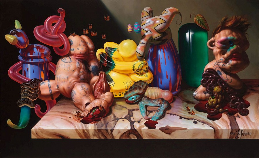 CHRISTIAN REX VAN MINNEN, GOOGLE GNOSTIC oil on linen
