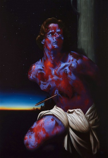 CHRISTIAN REX VAN MINNEN, ST. SEBASTIAN oil on linen