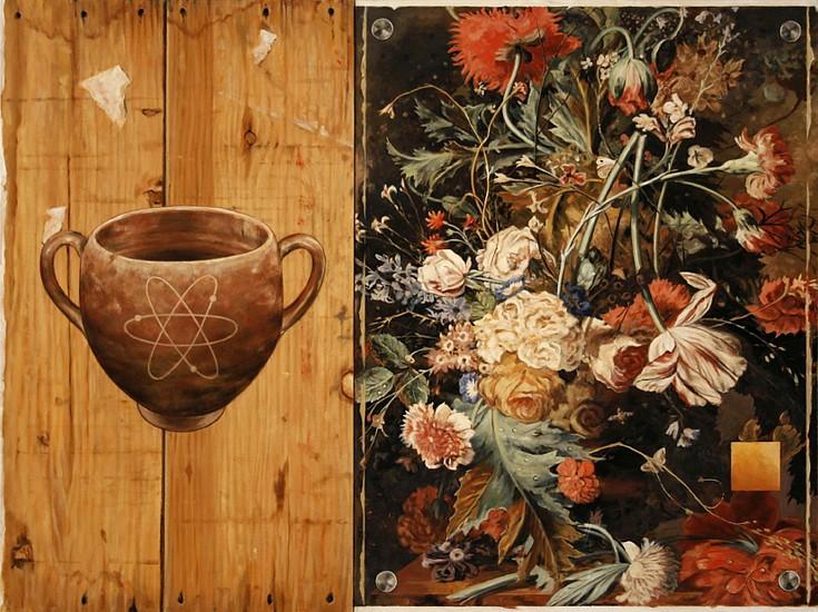 JERRY KUNKEL, BALANCE (JAN van HUIJSUM) oil on canvas
