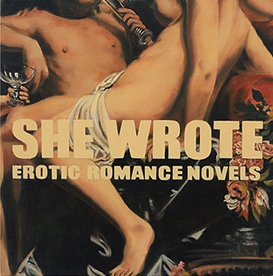 JERRY KUNKEL, SHE WROTE EROTIC ROMANCES oil on canvas