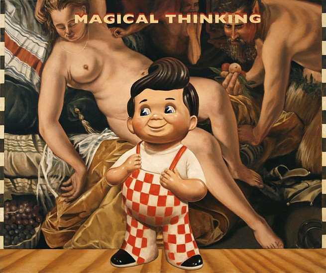 JERRY KUNKEL, magical thinking (hendrick goltzius) oil on canvas
