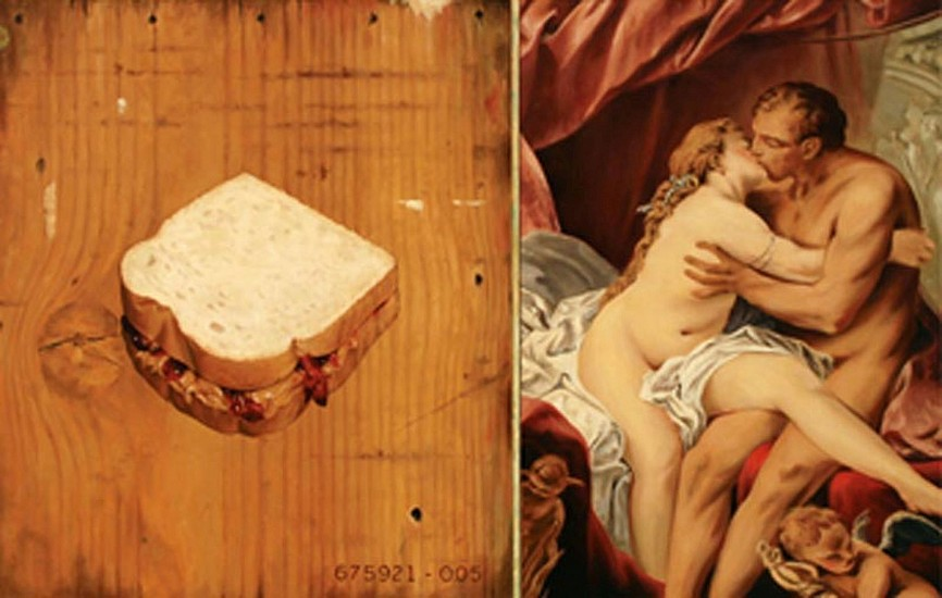 JERRY KUNKEL, PB&J AND BOUCHER oil on canvas