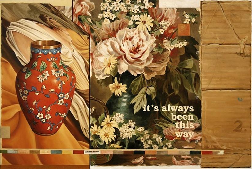 JERRY KUNKEL, VARIATION #3 oil on canvas