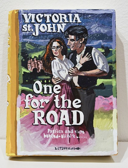 JEAN LOWE, ONE FOR THE ROAD enamel on papier mache