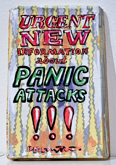 JEAN LOWE, PANIC ATTACKS enamel on papier mache