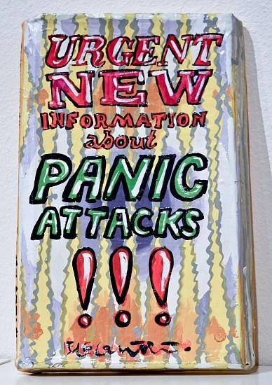 JEAN LOWE, PANIC ATTACKS enamel on papier mache