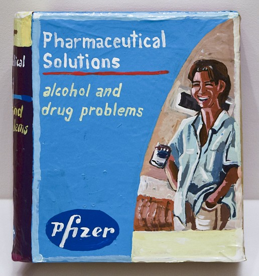 JEAN LOWE, PHARMACEUTICAL SOLUTIONS: ALCOHOL AND DRUG PROBLEMS enamel on papier mache
