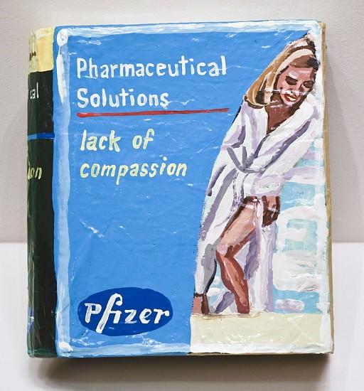 JEAN LOWE, PHARMACEUTICAL SOLUTIONS - LACK OF COMPASSION enamel on papier mache