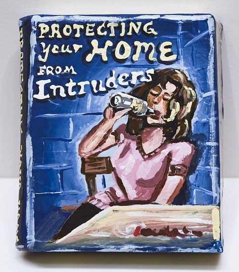 JEAN LOWE, PROTECTING YOUR HOME FROM INTRUDERS enamel on papier mache