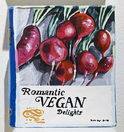 JEAN LOWE, ROMANTIC VEGAN DELIGHTS enamel on papier mache