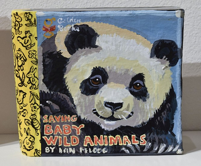 JEAN LOWE, SAVING BABY WILD ANIMALS enamel on papier mache