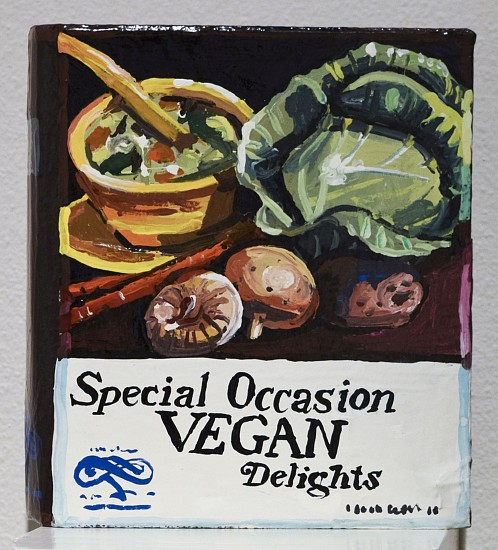 JEAN LOWE, SPECIAL OCCASION VEGAN DELIGHTS enamel on papier mache