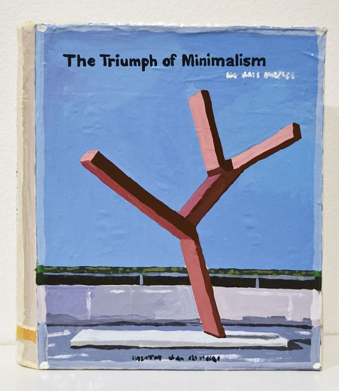 JEAN LOWE, THE TRIUMPH OF MINIMALISM enamel on papier mache